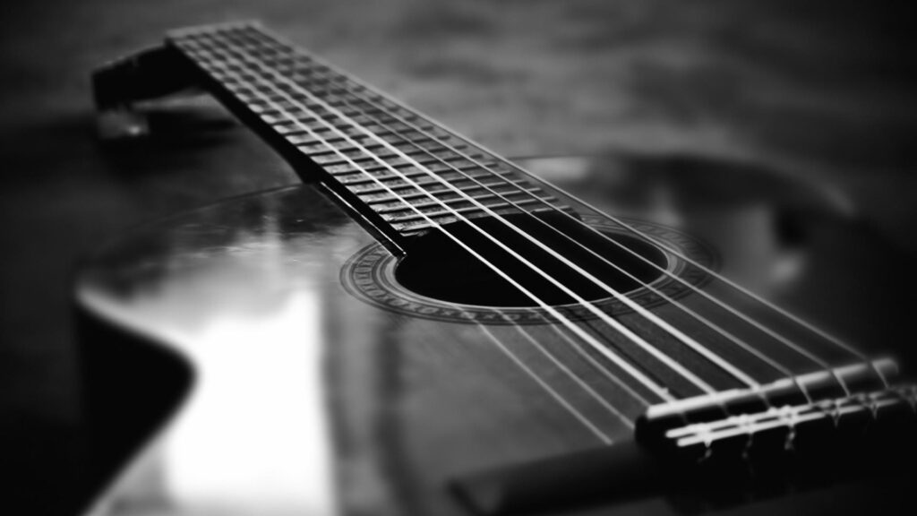 Acoustic Guitar Black and White Wallpapers HD